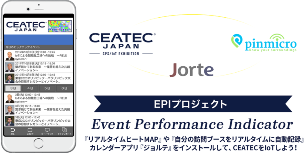CEATEC is powered by Pinmicro along with Jorte
